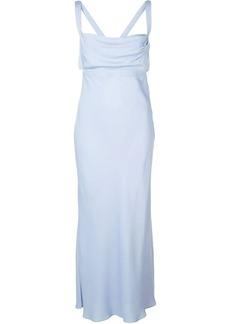 Michelle Mason draped strap dress
