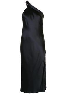 Michelle Mason embellished one-shoulder dress