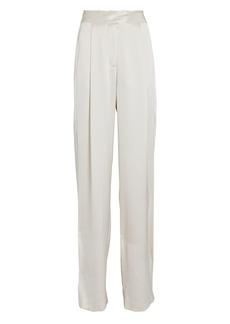 Michelle Mason High-Rise Silk Wide-Leg Pants
