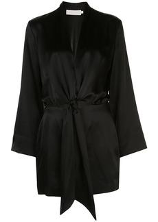 Michelle Mason kimono tie mini dress