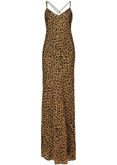 Michelle Mason leopard print bias gown