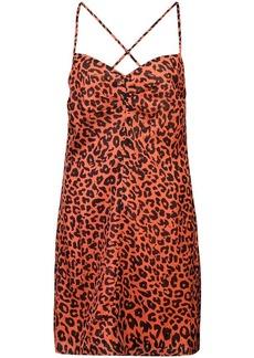 Michelle Mason leopard print mini dress