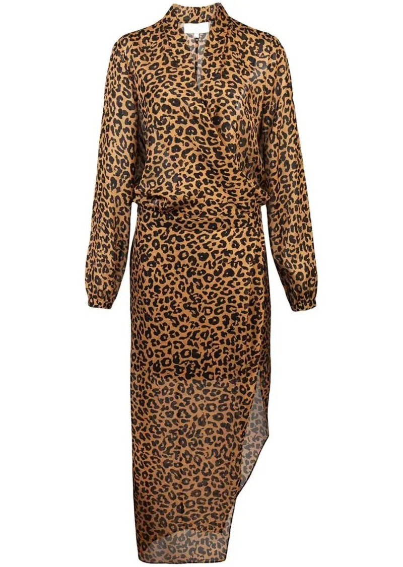 Michelle Mason leopard print wrap dress