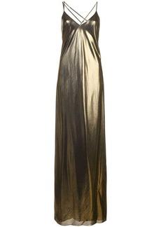 Michelle Mason metallic bias gown