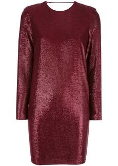 Michelle Mason metallic-effect mini dress