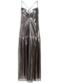 Michelle Mason metallic midi dress