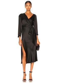 Michelle Mason Asymmetrical Dress With Tie