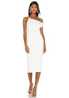 Michelle Mason Asymmetrical Rib Dress