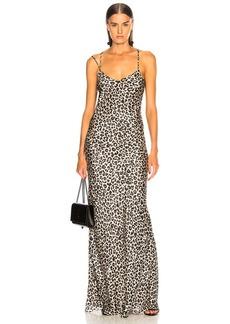 Michelle Mason Bias Gown with Back Drape