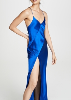 Michelle Mason Bias Gown with Slit