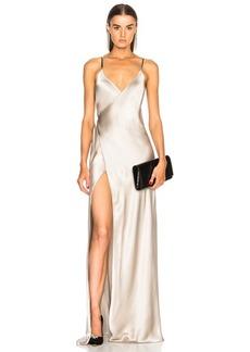Michelle Mason Chain Wrap Gown