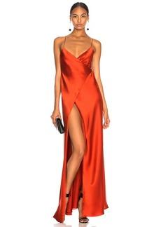 Michelle Mason for FWRD Strappy Wrap Gown