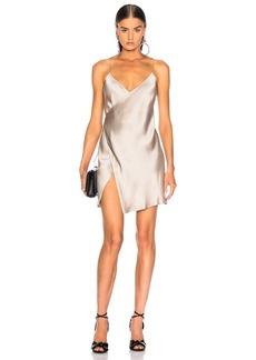 Michelle Mason for FWRD Strappy Wrap Mini Dress
