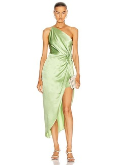 Michelle Mason for FWRD Twist Knot Midi Dress