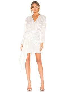 Michelle Mason Long Sleeve Mini Wrap Dress