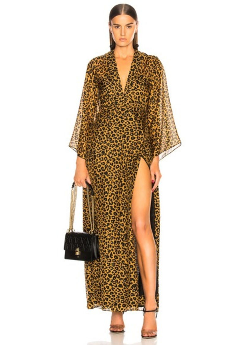 Michelle Mason Long Sleeve Plunge Gown