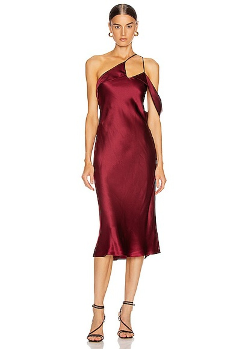 Michelle Mason Midi Dress with Arm Drape