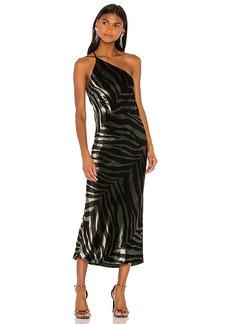 Michelle Mason Midi Dress With Back Cowl