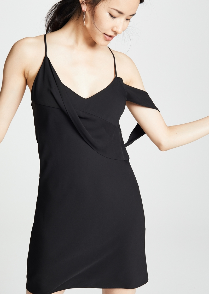 Draped Cowl Neck Dress