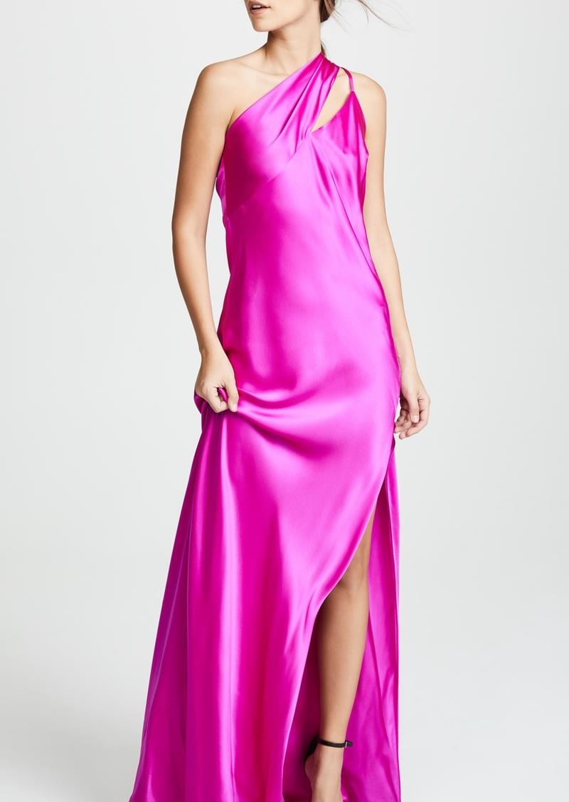 9f44707c244e Michelle Mason Michelle Mason One Shoulder Gown with Tie