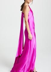 ec4c956972b57 Michelle Mason Michelle Mason One Shoulder Gown with Tie | Dresses