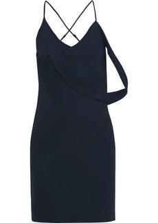 Michelle Mason Woman Open-back Draped Crepe Mini Slip Dress Navy