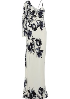 Michelle Mason Woman Floral-print Silk Crepe De Chine Gown Ivory