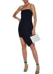 Michelle Mason Woman Asymmetric Stretch-crepe Mini Dress Midnight Blue