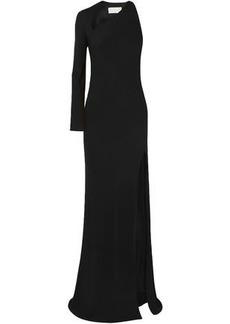 Michelle Mason Woman Split-front Cutout Stretch-crepe Gown Black