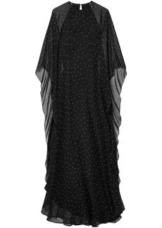 Michelle Mason Woman Polka-dot Silk-chiffon Gown Black