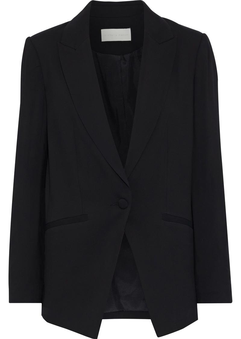 Michelle Mason Woman Stretch-crepe Blazer Black