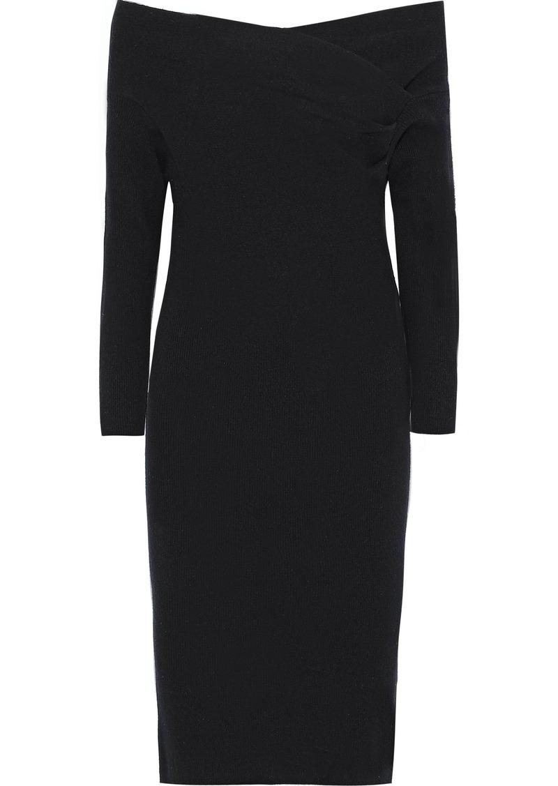 Michelle Mason Woman Wool And Cashmere-blend Dress Black