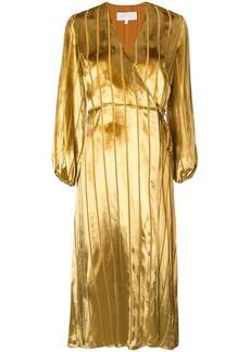 Michelle Mason midi wrap dress