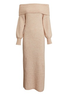 Michelle Mason Off-The-Shoulder Sweater Dress