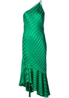 Michelle Mason one-shoulder ruffled hem dress