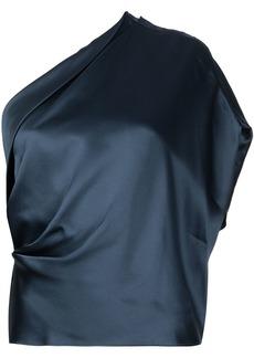 Michelle Mason one-shoulder silk top