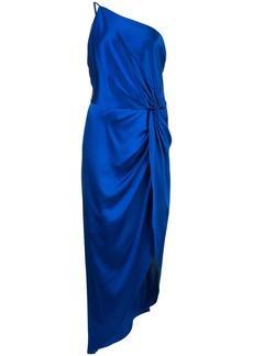 Michelle Mason one-shoulder twist knot dress