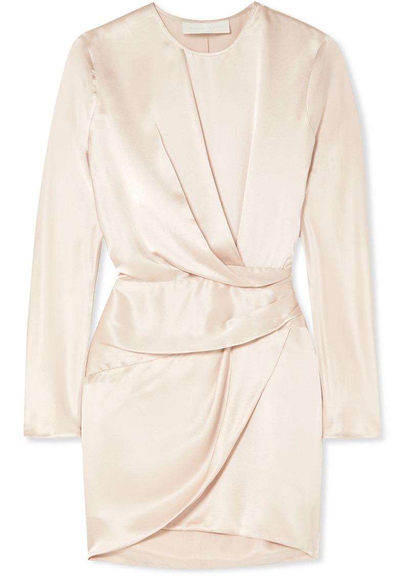 Michelle Mason Origami Draped Silk-charmeuse Mini Dress
