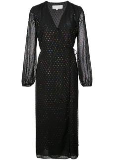 Michelle Mason polka dot wrap dress