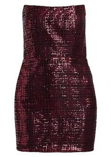 Michelle Mason Sequined Corset Mini Dress