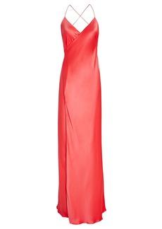 Michelle Mason Silk Maxi Wrap Dress