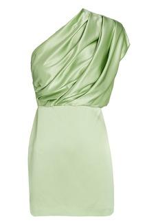 Michelle Mason Silk One-Shoulder Mini Dress