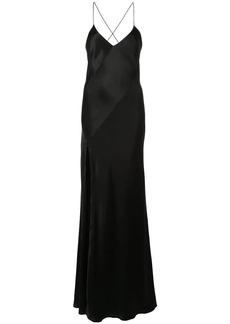Michelle Mason slit-detail bias gown