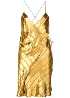 Michelle Mason strappy wrap mini dress