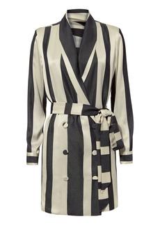 Michelle Mason Striped Blazer Dress