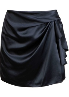 Michelle Mason tucked detail mini skirt