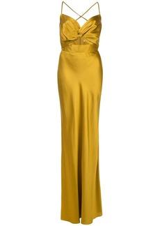 Michelle Mason Twist silk gown