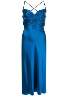 Michelle Mason Twist silk midi dress