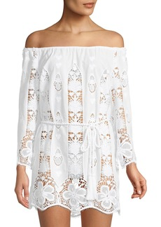 Miguelina Brigette Embroidered Lace Coverup