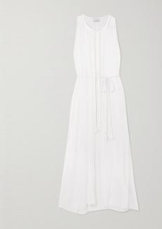 Miguelina Calypso Tasseled Cotton-crepon Dress